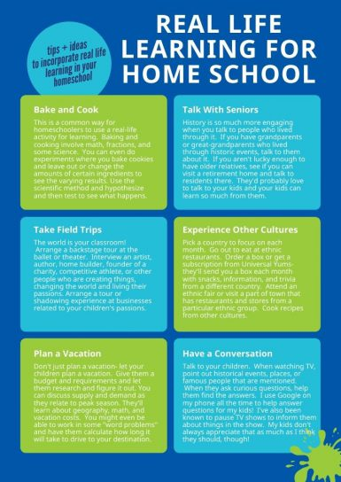 Real Life Learning for Home School guide